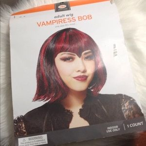🎃 Adult Wig | Black & Red